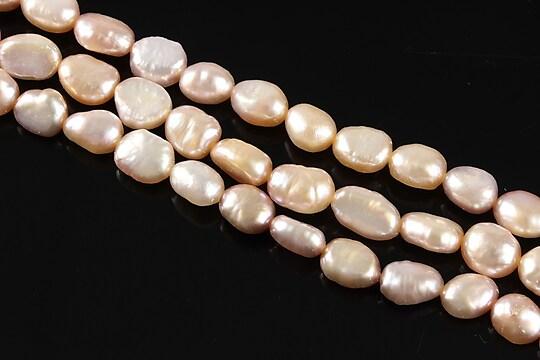 Sirag perle de cultura aprox. 8x6mm, roz