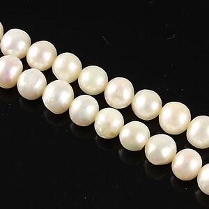 Sirag perle de cultura albe aprox. 7-8mm