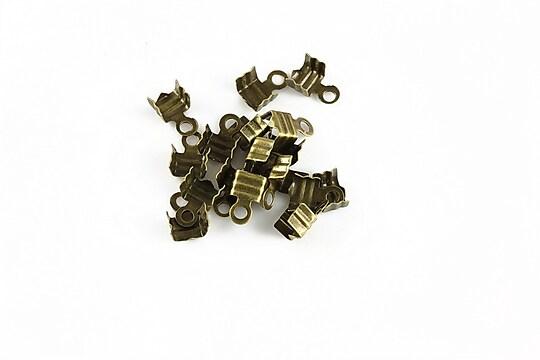 Capat snur bronz latime 4mm (10buc.)