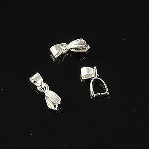 Agatatoare pandantiv argintie 15mm