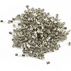 Crimp argintiu inchis 1,8mm (3g - aprox. 300 buc.)