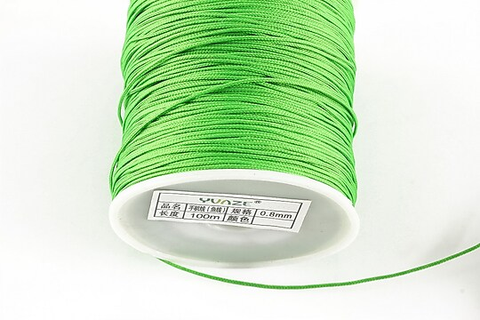Snur nylon cu guta in interior, grosime 0,8mm, rola de 100m - verde