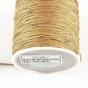 Snur nylon cu guta in interior, grosime 0,8mm, rola de 100m - bej