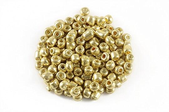 Margele de nisip efect metalic 4mm (50g) - cod 547 - auriu