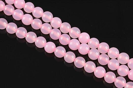 Agate roz sfere 6mm