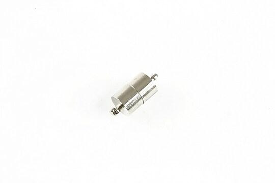 Inchizatoare argintiu inchis cu magnet 16x7mm