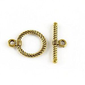 Inchizatoare toggle, auriu antichizat 22x17mm