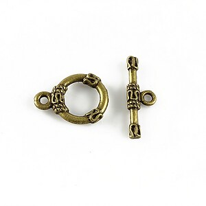 Inchizatoare toggle, bronz 17x13mm