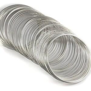 Sarma cu memorie pentru bratari, argintiu inchis 5,5cm diametru (10 spire)