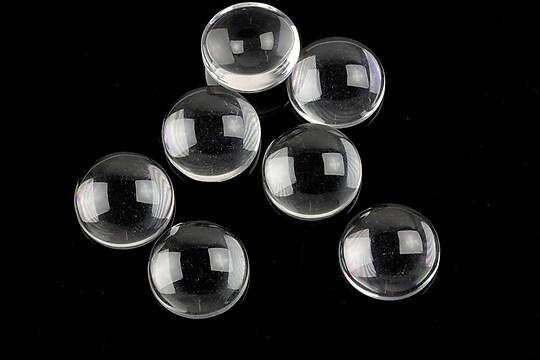 Cabochon de sticla transparenta pentru fundal personalizat 12mm