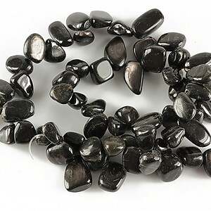 Sirag obsidian nuggets 9-14x7-11mm