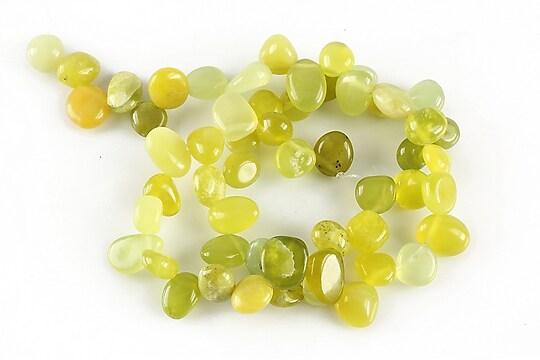 Sirag olive jad nuggets 10-13x8-10mm