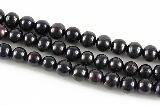 Sirag perle de cultura negre aprox. 8mm