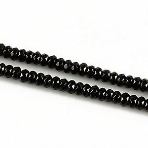 Jad rondele fatetate 2x4mm - negru