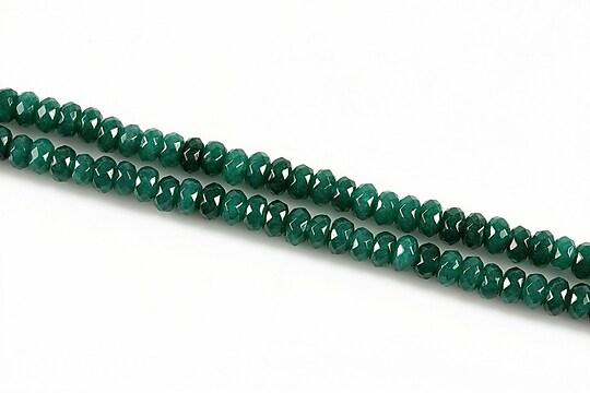Jad rondele fatetate 2x4mm - verde smarald