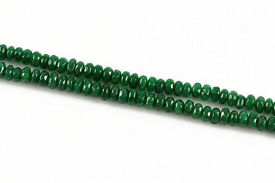 Jad rondele fatetate 2x4mm - verde