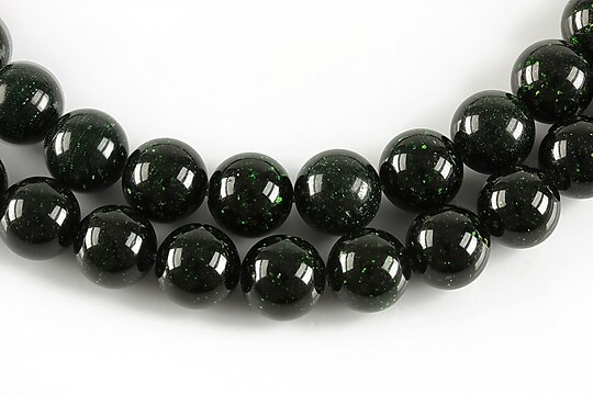 Green Goldstone sfere 10mm