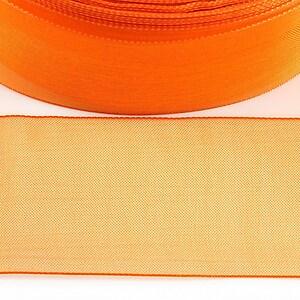 Panglica organza, latime 3,8cm (1m) - portocaliu