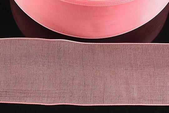 Panglica organza, latime 3,8cm (1m) - roz dechis