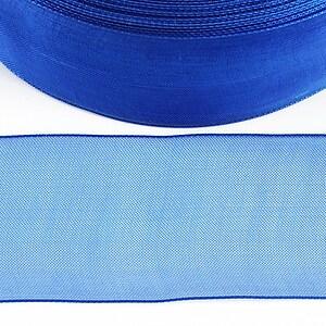 Panglica organza, latime 3,8cm (1m) - albastru safir