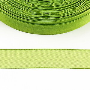 Panglica organza, latime 1,6cm (1m) - verde lime