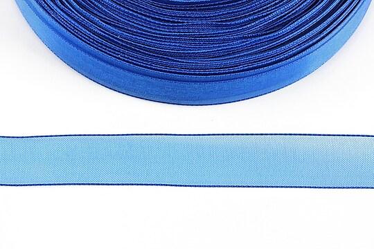 Panglica organza, latime 1,6cm (1m) - albastru safir