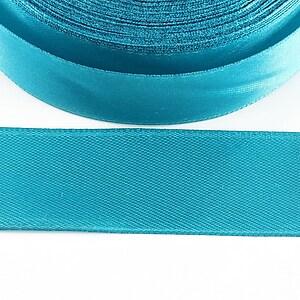 Panglica saten latime 2,5cm (1m) - albastru turcoaz