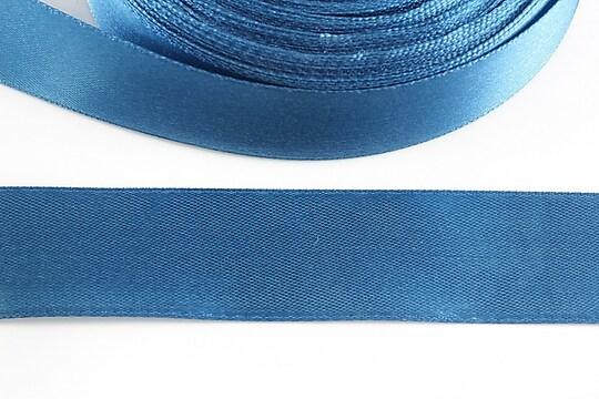 Panglica saten latime 2,5cm (1m) - albastru denim