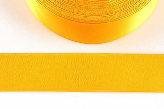 Panglica saten latime 2,5cm (1m) - galben portocaliu