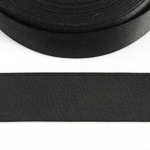 Panglica saten latime 2,5cm (1m) - negru