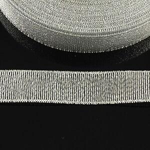 Panglica cu fir argintiu, latime 1,8cm (1m)