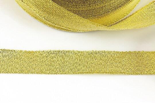 Panglica cu fir auriu, latime 1,8cm (1m)