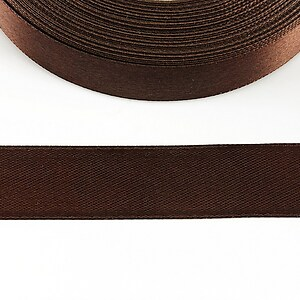 Panglica saten latime 1,8cm (1m) - maro inchis