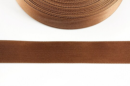 Panglica saten latime 1,8cm (1m) - maro aluna