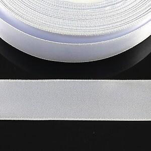 Panglica saten latime 1,8cm (1m) - alb gri