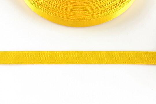 Panglica saten latime 1cm (1m) - galben portocaliu