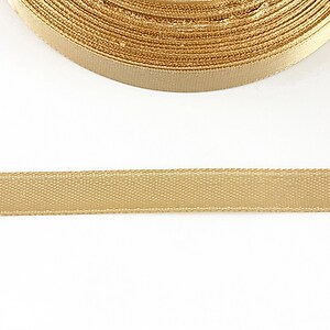 Panglica saten latime 1cm (1m) - bej