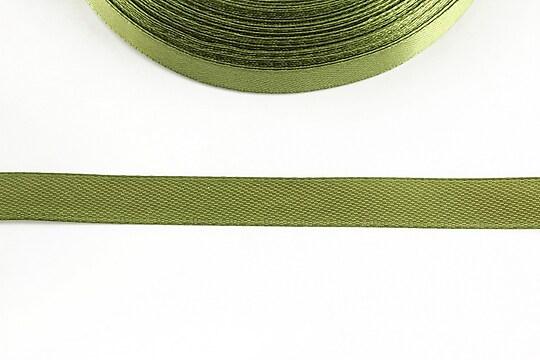 Panglica saten latime 1cm (1m) - olive
