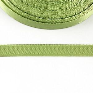 Panglica saten latime 1cm (1m) - verde fistic