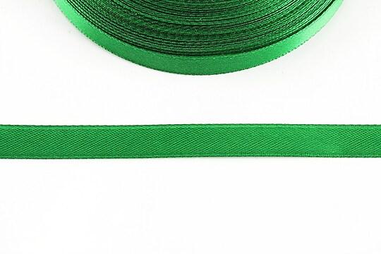 Panglica saten latime 1cm (1m) - verde