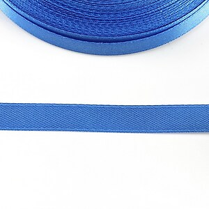 Panglica saten latime 1cm (1m) - albastru