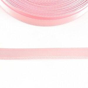 Panglica saten latime 1cm (1m) - roz deschis