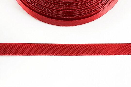 Panglica saten latime 1cm (1m) - rosu zmeuriu