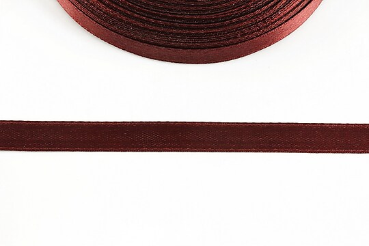Panglica saten latime 1cm (1m) - bordo