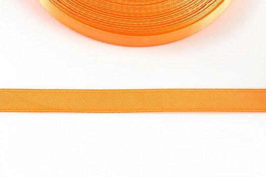 Panglica saten latime 1cm (1m) - orange