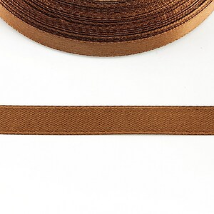 Panglica saten latime 1cm (1m) - maro aluna
