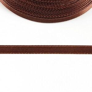 Panglica saten latime 1cm (1m) - maro