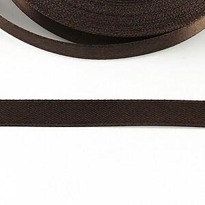 Panglica saten latime 1cm (1m) - maro inchis