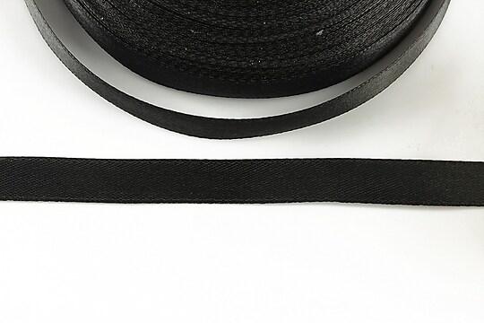 Panglica saten latime 1cm (1m) - negru