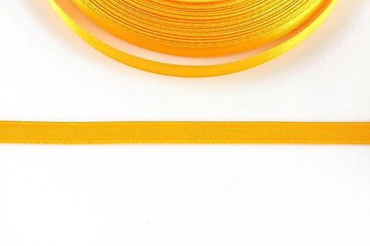 Panglica saten latime 0,6cm (1m) - portocaliu